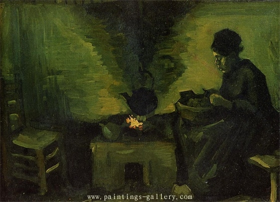 Peasant Woman by the Fireplace